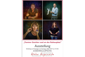 we suggest.. Vernissage Traminer Gesichter rund um den Rathausplatz